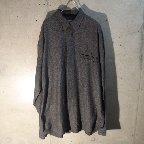 Made In  Italy Plane Poly Rayon Shirt