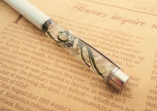 ハーバリウムボールペン(柄:ホワイト)