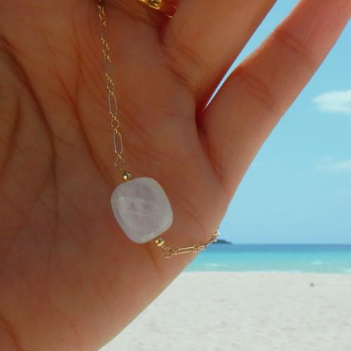 Moonstone Single Chain Bracelet