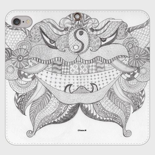手帳型(帯なし)(iPhone8/7):kazue.M_015「シーサー」