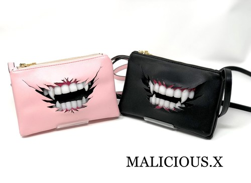 vampire shoulder bag / black,pink