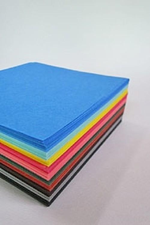 お徳用500枚 紋切り用紙 和紙折り紙(15cm)おまかせ配色