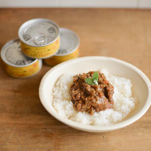 ジビエ缶詰:イノシシと大豆のキーマカレー