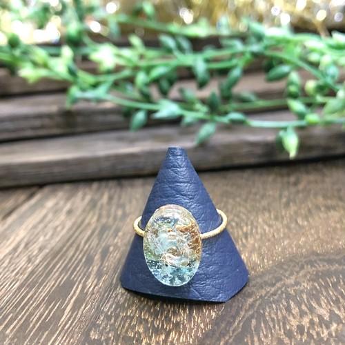 オルゴナイトリング 指輪 アパタイト オーバル  真鍮 フリーサイズ