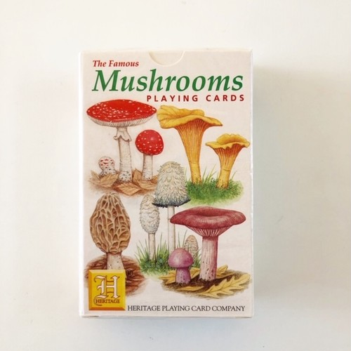 "HERITAGE  Playing Cards ""Mushrooms"" トランプ"