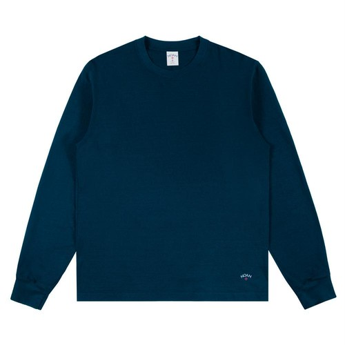 Recycled Cotton Long Sleeve Tee(Petrol)