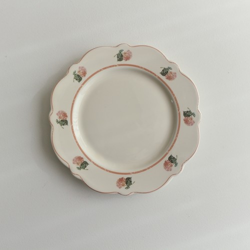 vintage flowers plate / ヴィンテージ フラワー プレート アンティーク調 お皿 韓国 北欧 雑貨