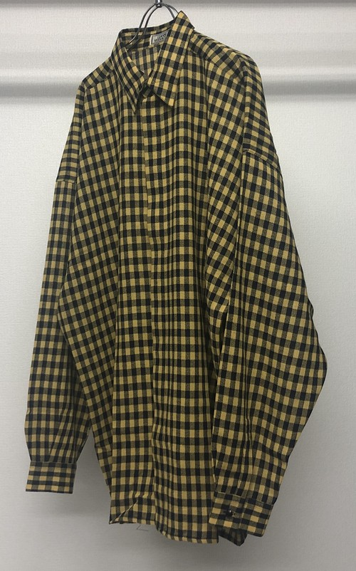 AW1991 GIANNI VERSACE PLAID OVERSIZED SHIRT
