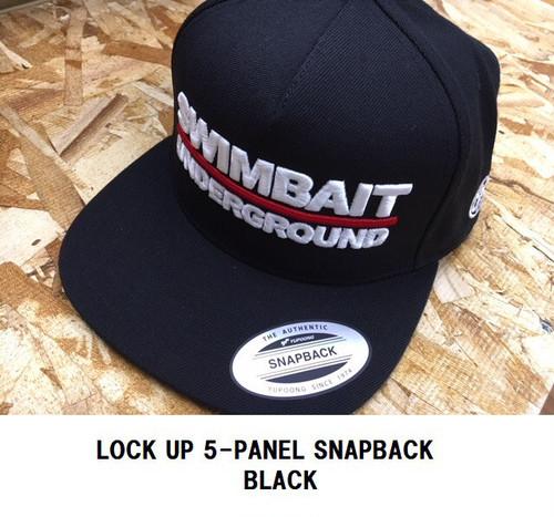 SU / LOCK UP5-PANEL SNAPBACK ブラック