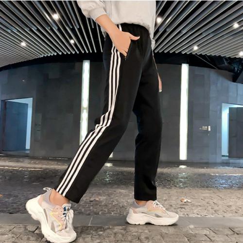 2019 秋 hiphop 韓国風 スポーツ 学生 原宿系 bf カジュアル INS ボトムス