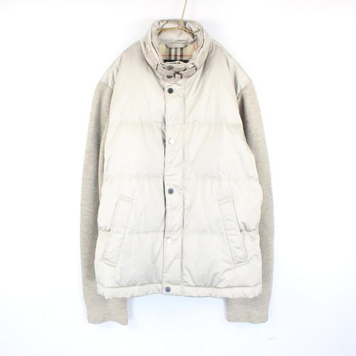 .BURBERRY LONDON KNIT SWITCHED DOWN JACKET/バーバリーロンドンニット切替ダウンジャケット 2000000040851
