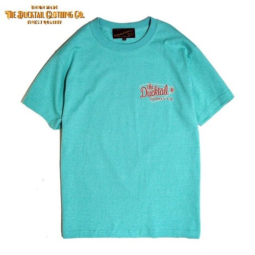 """DUCKTAIL CLOTHING """"ATOMIC"""" PEPPERMINT GREEN ダックテイル クロージング 半袖 Tシャツ"""