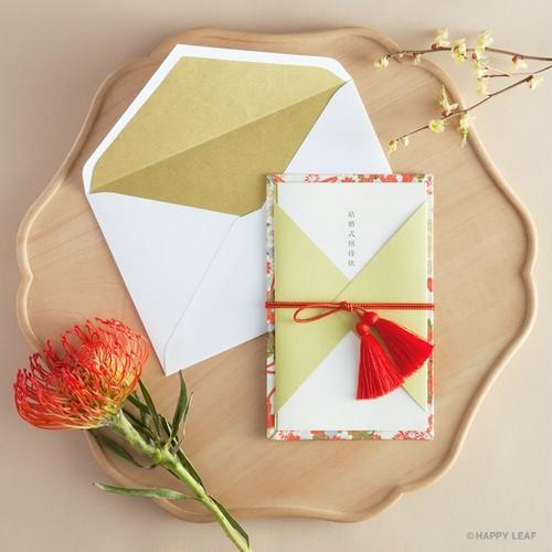 かざり紙付きコットン封筒(リッチゴールド)/10枚セット