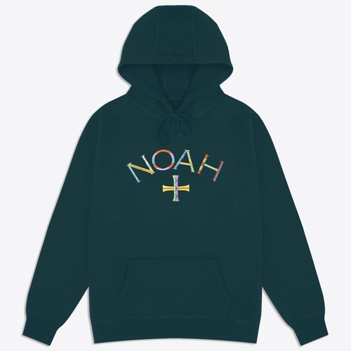 Color Embroidered Core Logo Lightweight Hoodie(Dark Teal)