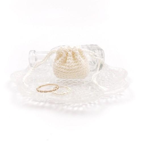 Minikin S☆ミニ巾着Sサイズ*オフホワイト
