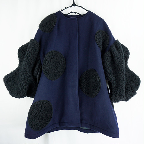 UNEVEN BOA DOTS MIX SP COAT / WOMEN1