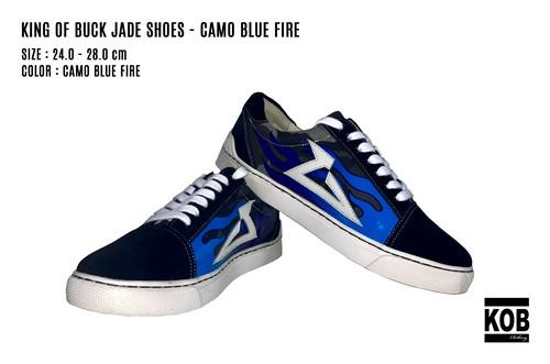 KING OF BUCK × JADE SHOES - CAMO BLUE FIRE