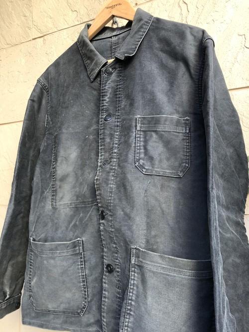 Old French Black moleskin jacket