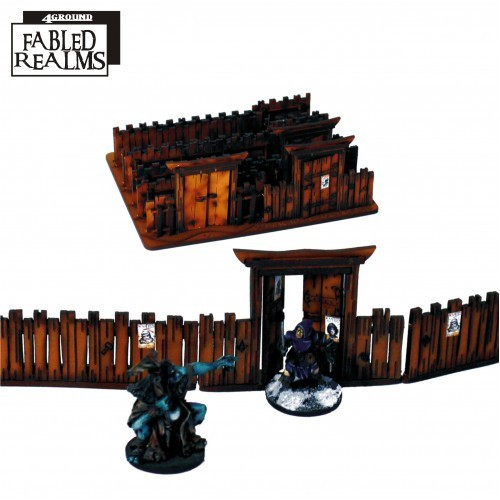 Fabled Realm Village Fencing With Gates 28S-FAR-116