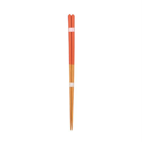 ダイヤカット箸(大)朱 【45-062】