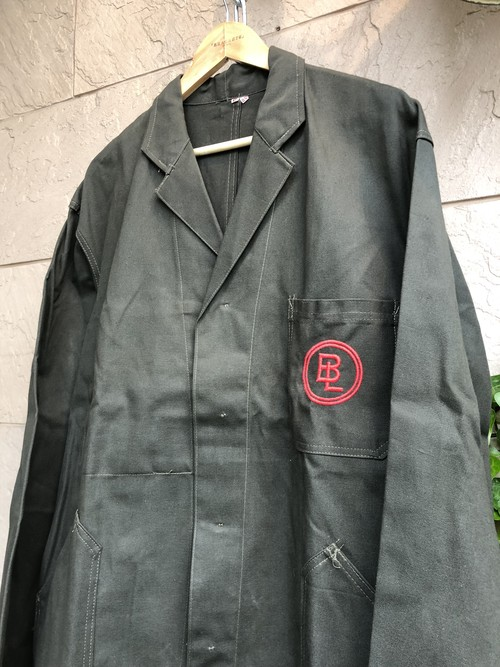 Deadstock 〜1960s Belgium Charcoal gray color work coat
