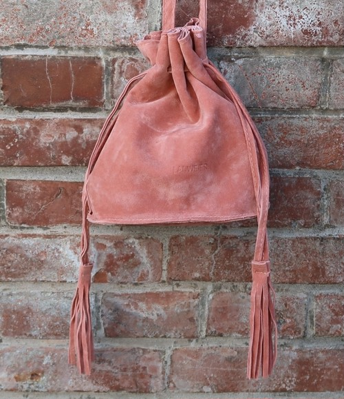 TheDelight ECO SUEDE FRINFE TASSEL POCHET (エコ スエード フリンジ タッセル ポシェット)ピンク