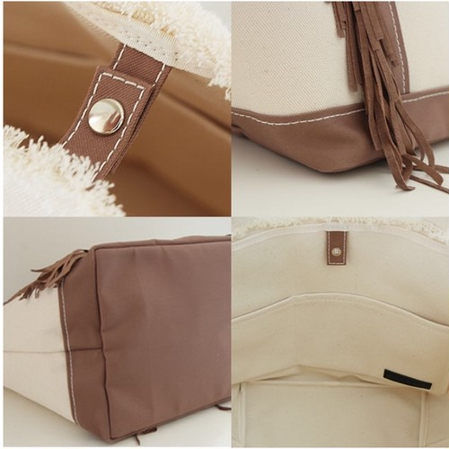 SideFringeToteBag small/camel