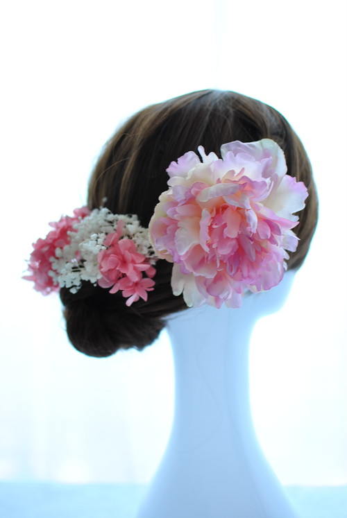 結婚式や成人式にオススメ!着物・和装にぴったり!ピンクの髪飾り♪