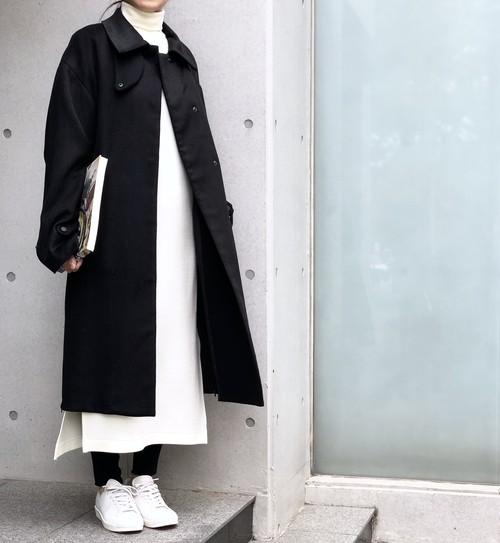 Turtle Long Dress/WHITE