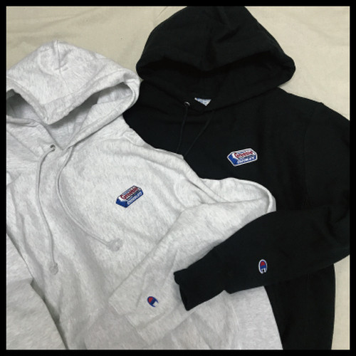 "CHOCOLATE ""Champion REVERSE WEAVE"" Hoodie【GRAY/BLACK】"