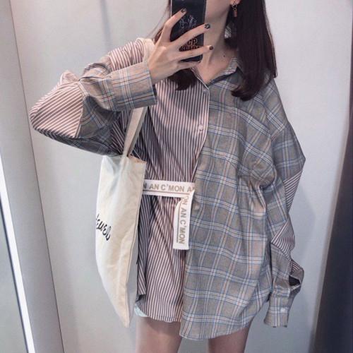 Popteen2月号掲載【お取り寄せ商品】チェックストライプシャツ 6901