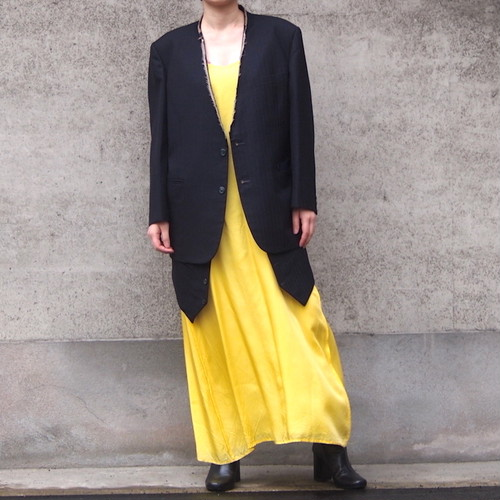 【sandglass】sack coat (vest)/ 【サンドグラス】サック コート(ベスト)