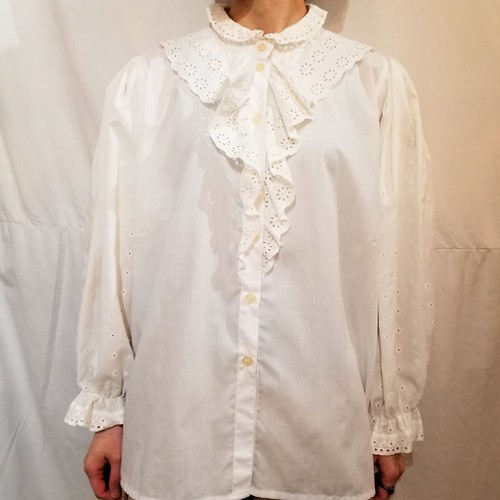Lace&embroidery blouse [H-68]