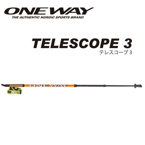 ONE WAY ノルディックウォーク TELESCOPE 3 3段式カーボンシャフト ow10211