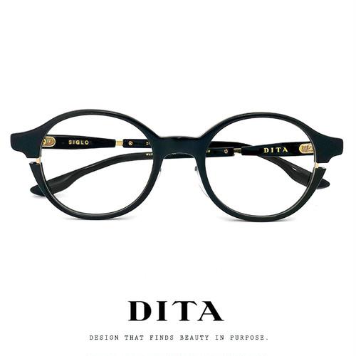日本製 DITA メガネ ディータ Siglo dtx113-48-01 01af-48 ボストン ラウンド ロイド型 DITA 眼鏡 メンズ レディース 黒ぶち 黒縁 MADE IN JAPAN