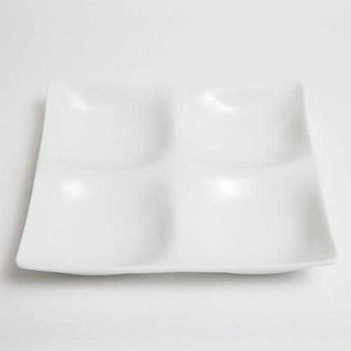 四つ仕切り皿(白磁)