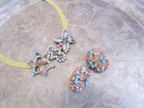 vintage earrings bijou <ER-RBtqpk>