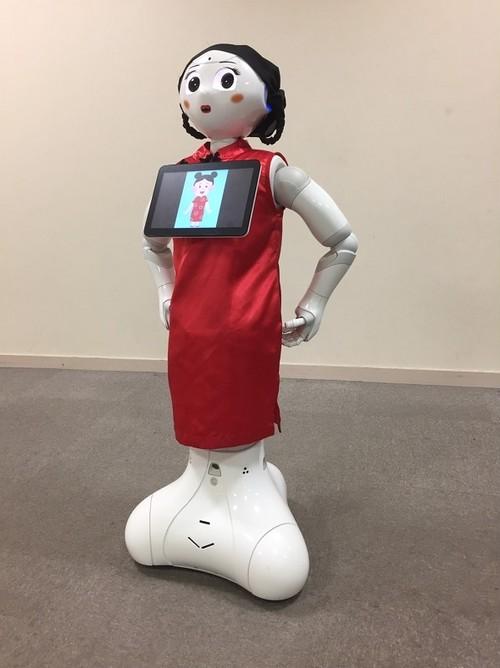 ロボット☆ファッション☆民族衣装☆チャイナ服☆赤☆Pepper向け PCHN16-001