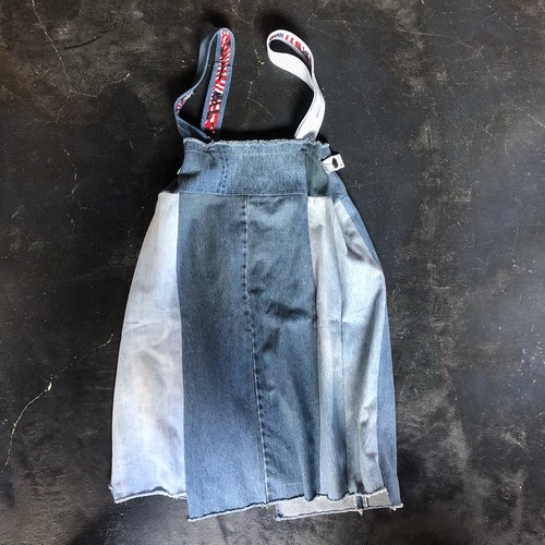 Yoused Remake Baggy Suspender Skirt