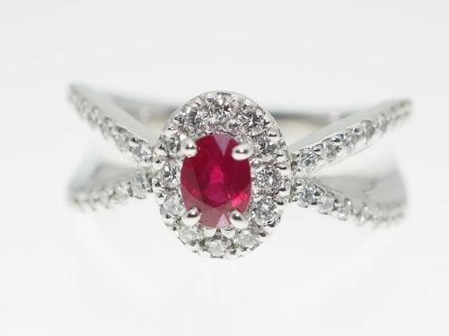 【R0.40Cts D0.37Cts】PT900 ダイヤモンドリング