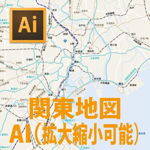 関東エリアマップ(AIベクター編集可能)