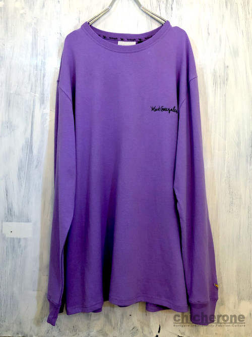 【MARK GONZALES】BACK PRINT LT/S L.PURPLE