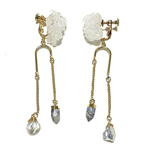 Crystal earrings【Dendrite】