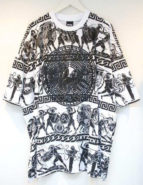 KTZ WAR PRINT T-SHIRT ウォー プリント Tシャツ / WHITE-BLACK