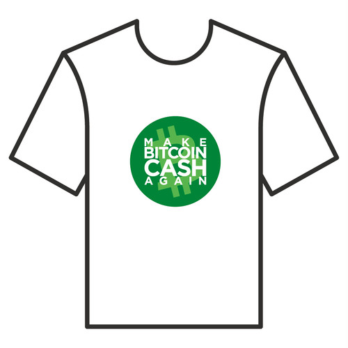 BitcoinCashTシャツ シリーズC 白 COFA(C4-003)