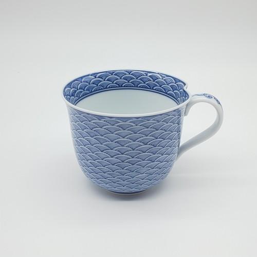 平戸青海波 一方押マグカップ