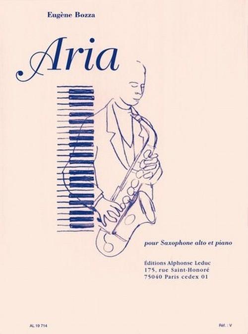 ボザ:アリア/アルトサクソフォーン・ピアノ