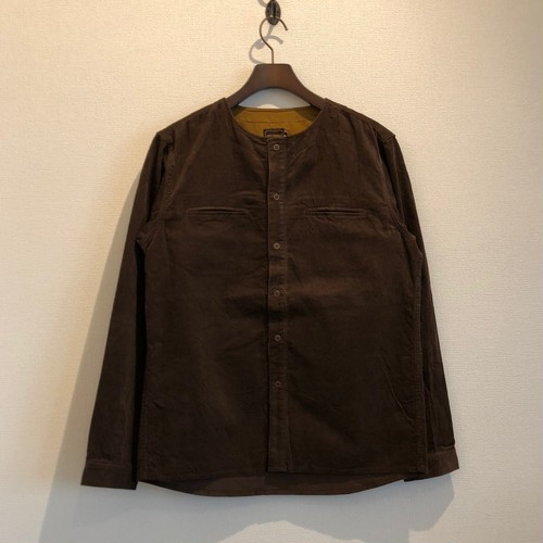 NO COLLAR CORDS SHIRTS (FADE BROWN) / LOST CONTROL