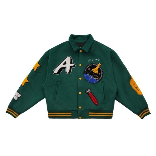 【11月中旬再入荷予定】A FEW GOOD KIDS Rocket Collage Jacket GREEN
