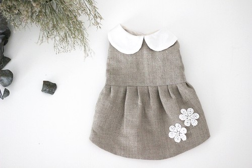 "《型紙KIT》DRESS"" FLOWER NATURAL HEMP"""